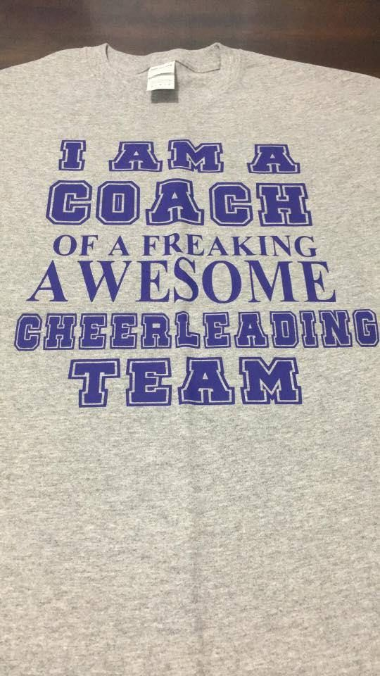 Cheerleading T-shirts. Cheer coach gift. Cheerleader clothes. Coaching. #cheerleading #ad