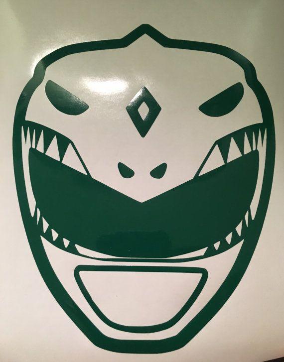 Mighty Morphin Ranger verde etiqueta de vinilo