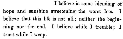 Oh, these words, they dance off the page and into my heart. So powerful.  villette • charlotte brontë