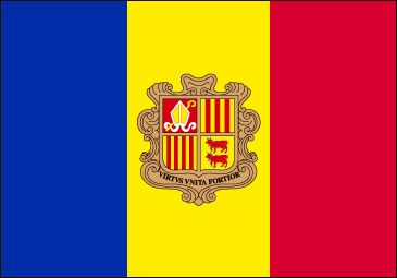Andorra Flag - Download Picture of Blank Andorra Flag For Kids to Color