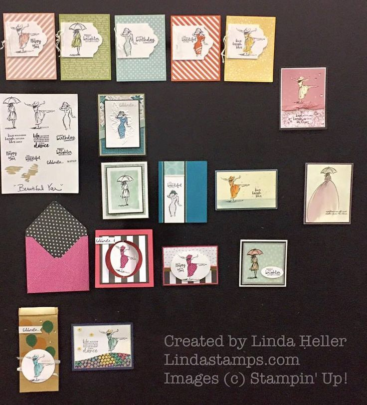 Linda Heller created a beautiful set of projects using Beautiful You, for the Onstage presentations in Atlanta