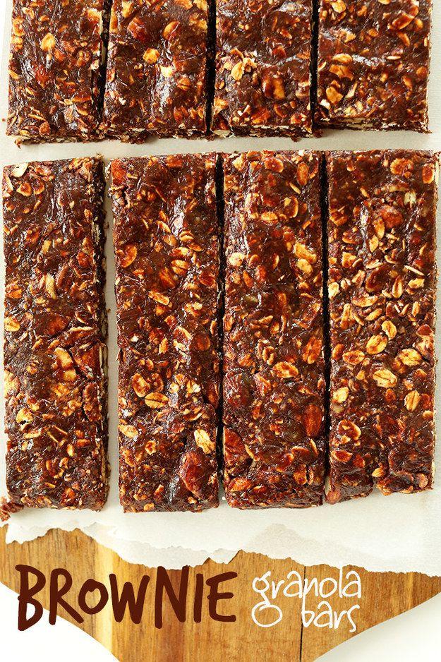 Healthy Brownie Granola Bars | 23 Delicious DIY Granola Bar Recipes