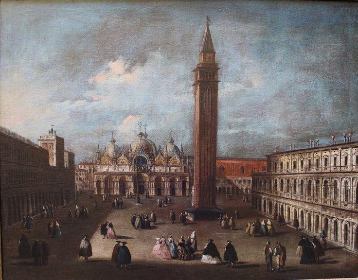 Piazza San Marco Venezia Olio su tela