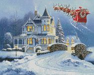 Santa's Magic Sleigh Ride - Cross Stitch Chart