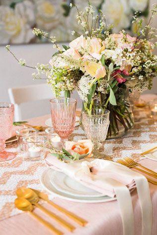 Свадебные тренды 2015 - пастельные цвета, сервировка стола