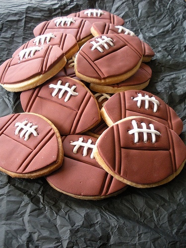 rugby ball cookies