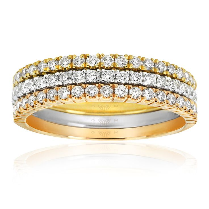 Celebrate life and love with the [ORO]3 Me To You diamond ring stack. Wear together or separately to suit your style. Crafted in 18ct white, yellow and rose gold. [ORO]3 rings are custom made for your finger size. Delivery is approximately 6 weeks. Pre order now.