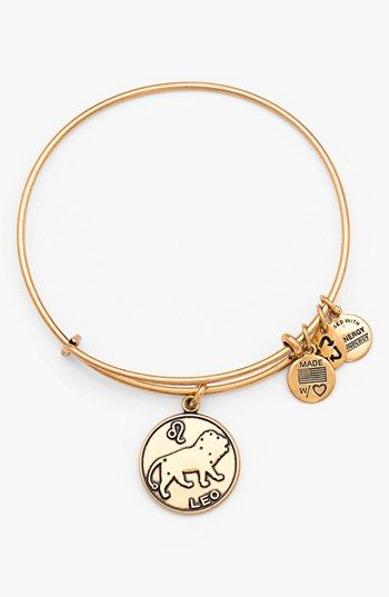 Alex and Ani 'Leo' Adjustable Wire Bangle | Nordstrom