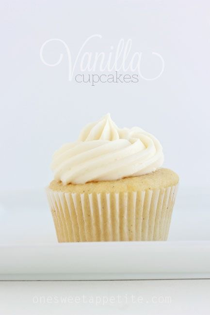 Best vanilla cupcake recipe. So easy and not too sweet!