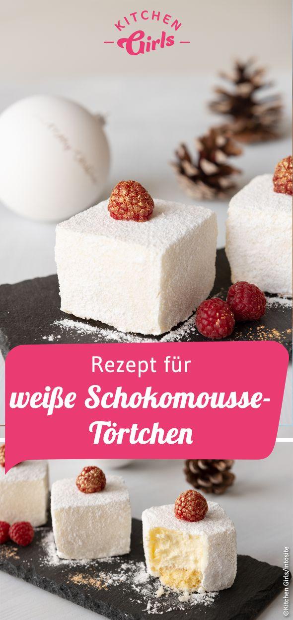Rezept für Törtchen mit weißer Schokoladenmousse als Dessert für's Festessen …