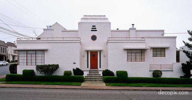 Art deco house san francisco ca buildings details for Art deco house plans