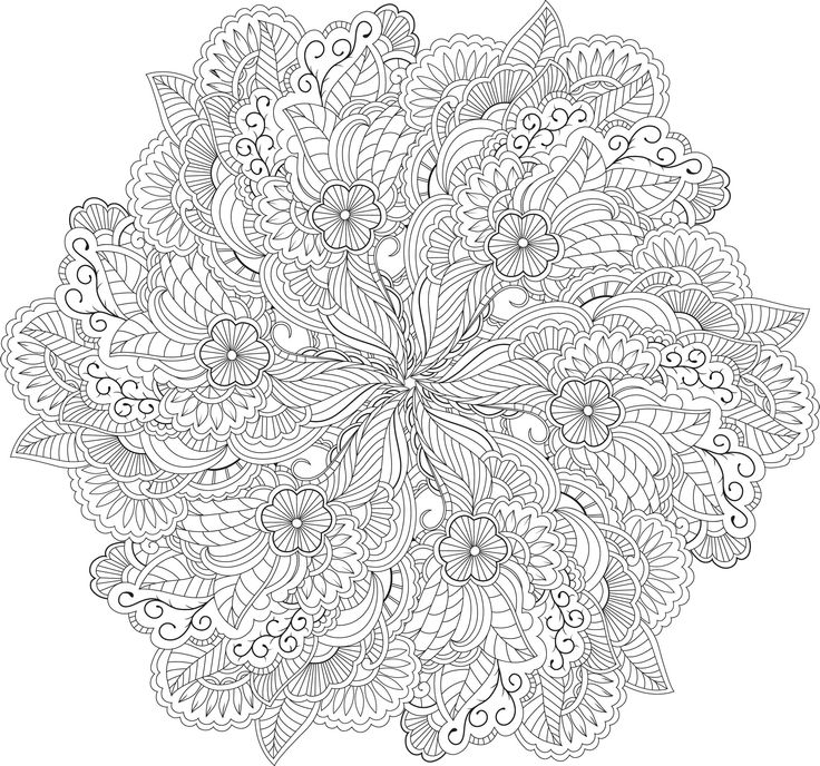 Zen Mandalas Coloring Book : 448 best doodles mandalas images on pinterest