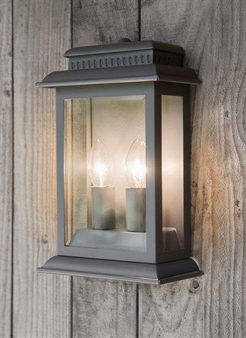 A stylish outdoor lantern in Charcoal