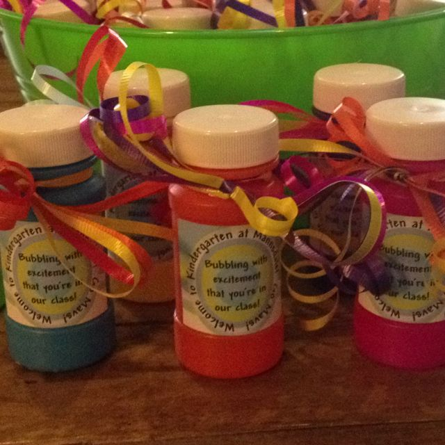 """Back to school treats...""""Bubbling with excitement that you're in our class!"""""""