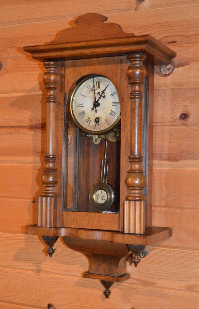 Antique German or Vienna Wooden Wall Clock R & A Pendulum ...