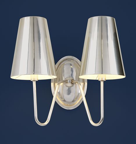 Berkshire Double Sconce with Metal Shades & 532 best Kitchen u0026 Dining Room images on Pinterest | Dining rooms ... azcodes.com