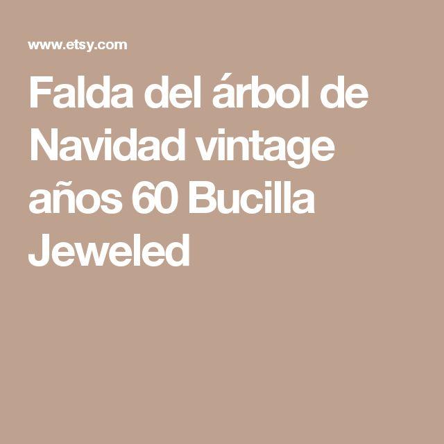 Falda del árbol de Navidad vintage años 60 Bucilla Jeweled