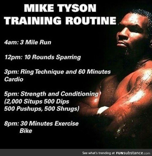 Mike Tyson's training routine