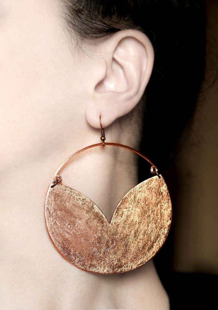 Big earrings Boho earrings Copper dangles Statement hook earrings Copper hoop earrings Large chunky jewelry African earrings Birthday gifts https://www.etsy.com/listing/503437238/big-earrings-boho-earrings-copper?utm_campaign=crowdfire&utm_content=crowdfire&utm_medium=social&utm_source=pinterest