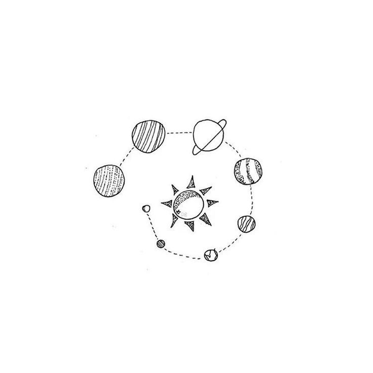 Simple Line Art Tumblr : An early morning walk tattoos pinterest solar system