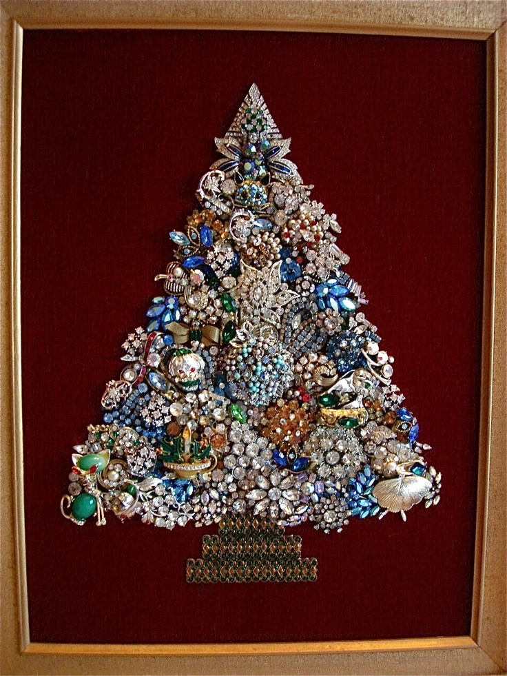 69 best Christmas Rhinestone Art images on Pinterest | Jewelry ...