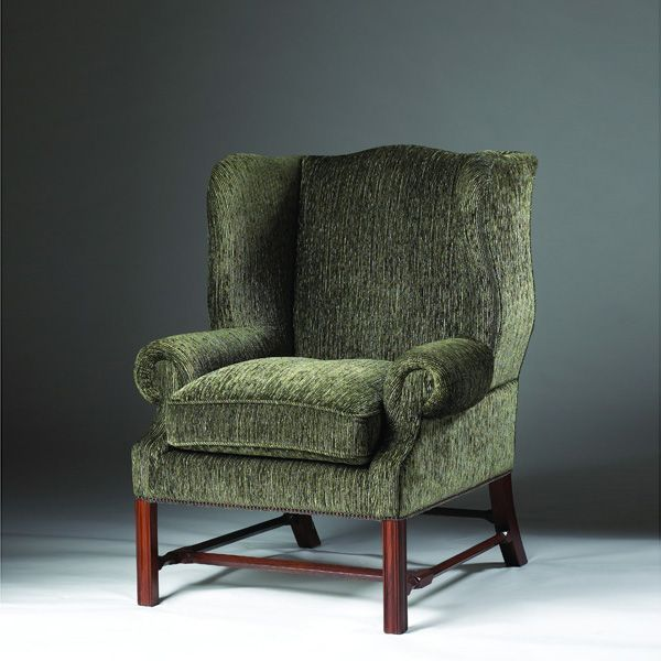 Classic Wing Chair | Model WY.Very Detailed Stretchers And Legs Set This  Handsome Wing