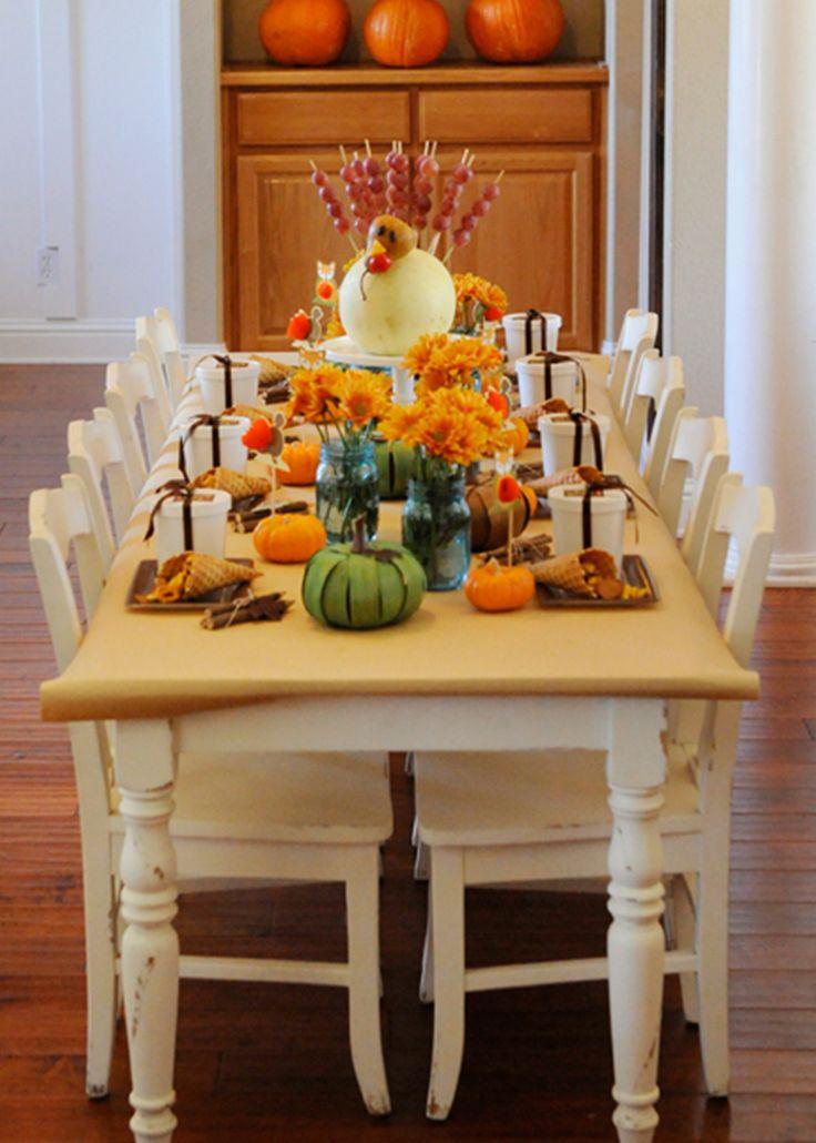 Kids' Thanksgiving Table | Happy Wish Company