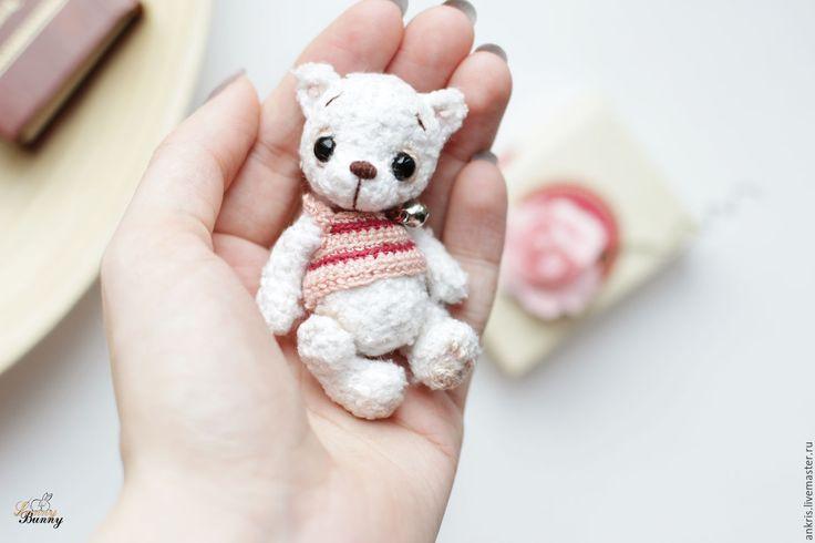Купить мини тэдди амигуруми мишка Таоши - белый, амигуруми, тэдди, мишка тэдии