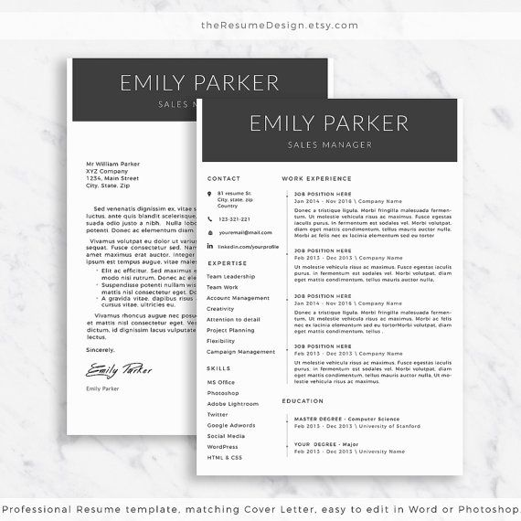 19 Best Professional Resume Templates. Images On Pinterest | Cover