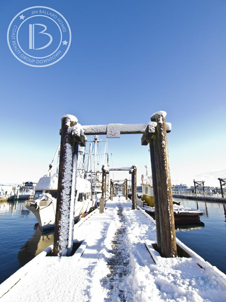 Nanaimo Harbour in the Snow. #Nanaimo #VancouverIsland #LoveWhereYouLive