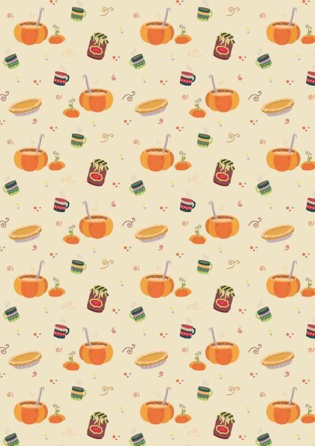3 Free Autumn  Thanksgiving Printable Scrapbook Papers Harry