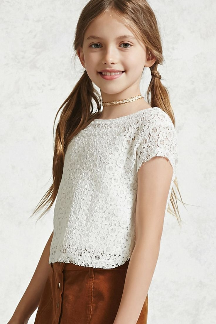 Girls Crochet Lace Top (Kids) - Girls - New Arrivals ...