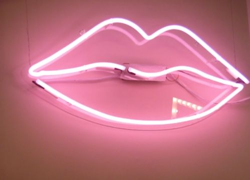 TheyAllHateUs~ #ᏰᏫᏂᏫ Hot Pink Neon sign of Lips~