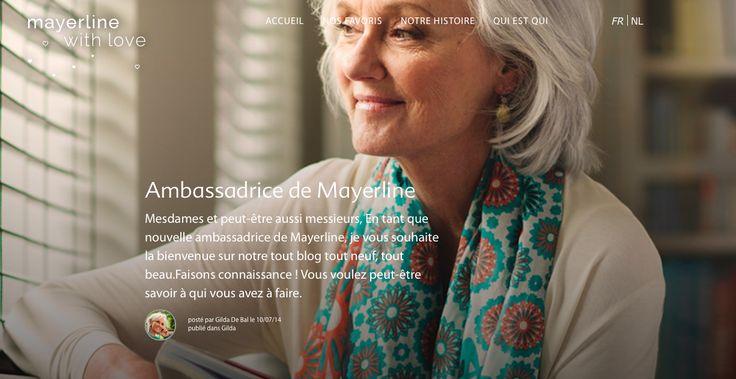 Faire vivre la marque. Raconter son histoire. Donner voix à son ambassadrice. Maybelline by love.