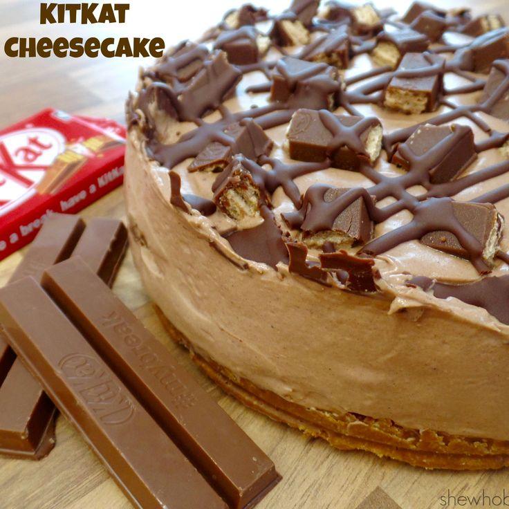 KitKat Cheesecake - She Who Bakes