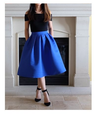 Vintage Flare Skirt (2 COLOR CHOICES)