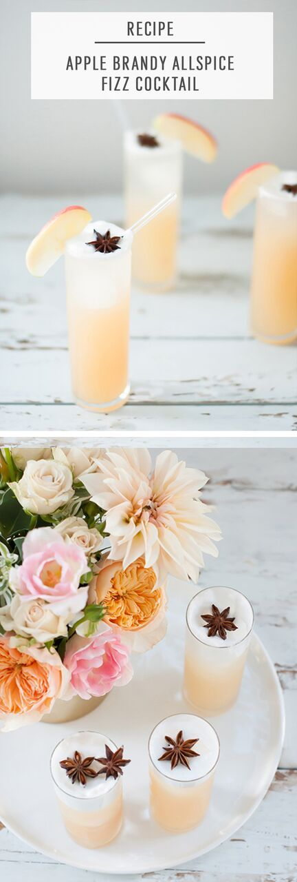 If you're a firm believer in an apple a day keeps the doctor away, then you'll be drinking this Apple Brandy Allspice Fizz cocktail all season long!