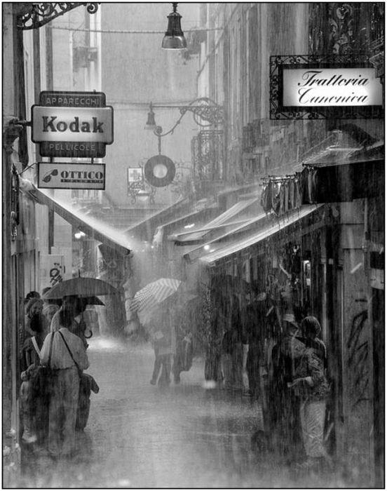 Rain down an alley