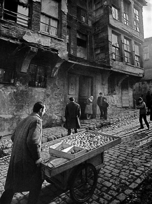Ara Guler TURKEY. Costermonger in a street in Zeyrek. 1959.