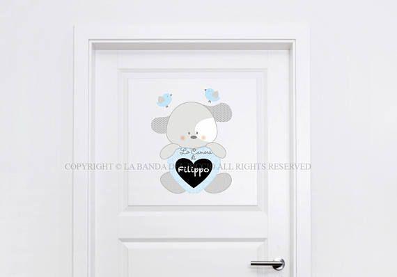 Adesivi porta cameretta Decorazioni adesive per porta con