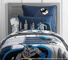 Batman Tm Cityscape Quilted Bedding At Pottery Barn Kids