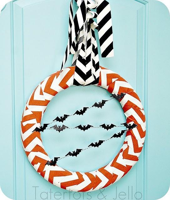 chevron Halloween wreath