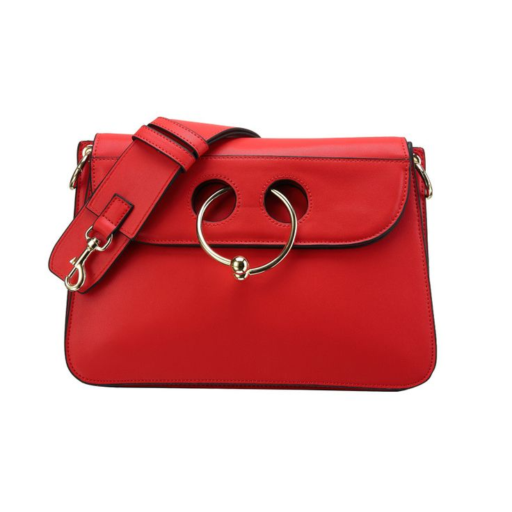 P202 European and American fashion cow nose ring bag leather Shoulder Bag oblique Crossbody Bag leather handbags