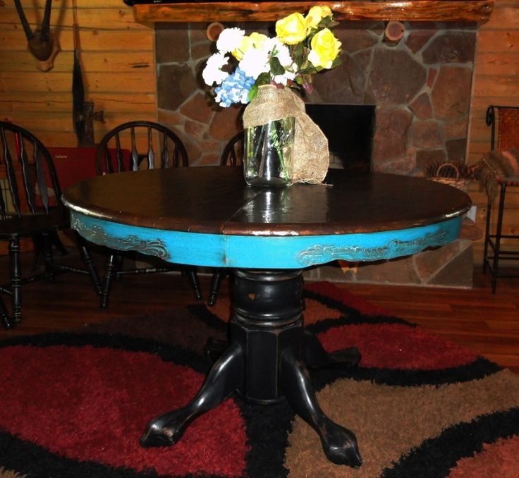 Pine Dining Table Makeover