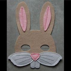 Masque en feutrine : lapin