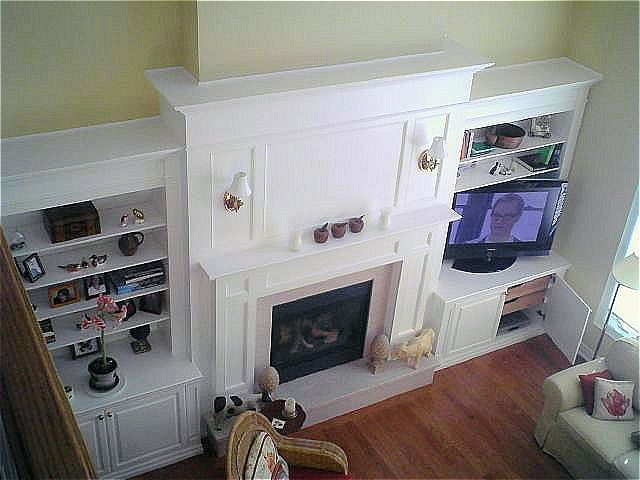 Wall Unit Fireplace Mantel TV Enclosure By Reece S Fine