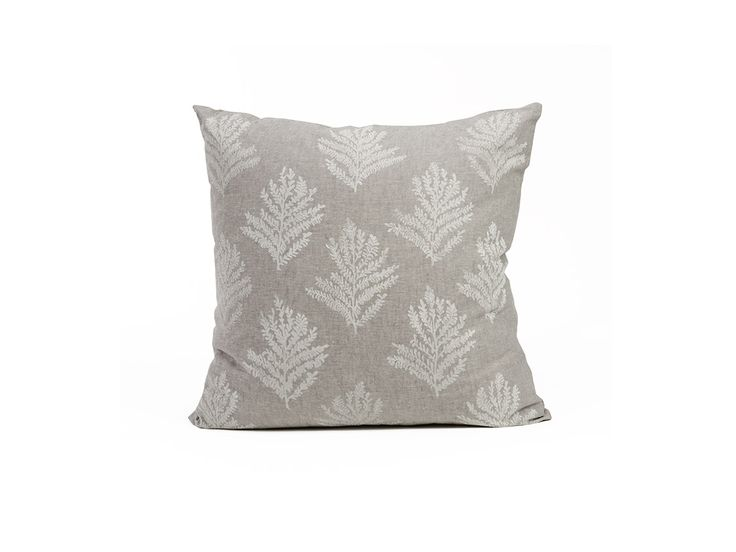 Handprinted Frond Pillow | Cultivations