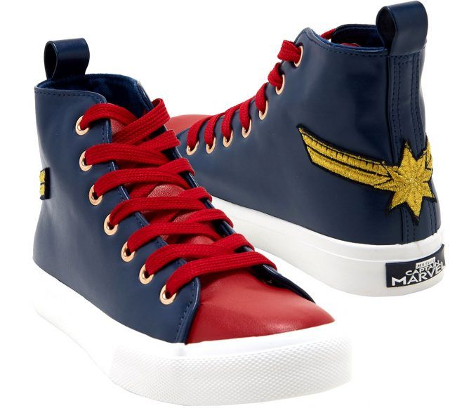 Marvel Captain Marvel Hi-Top Sneakers
