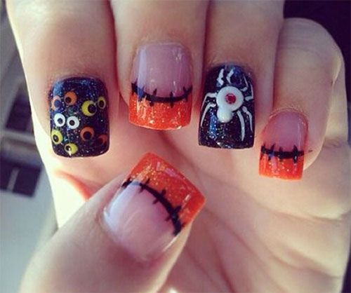 Halloween Acrylic Nails                                                                                                                                                                                 More