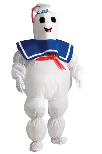 Disfraz niño Mashmallow, Los Cazafantasmas.  Conviértete en la amenaza final de los Cazafantasmas, el aparentemente inofensivo Hombre de Malvavisco en el que se transforma Gozer, con este original Disfraz.